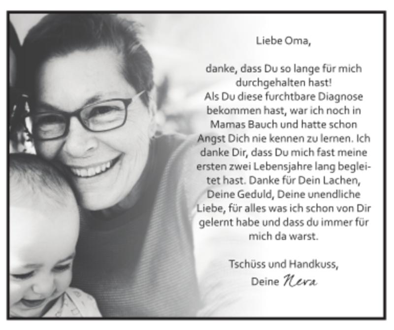 Traueranzeigen von Liebe Oma | trauer.flz.de